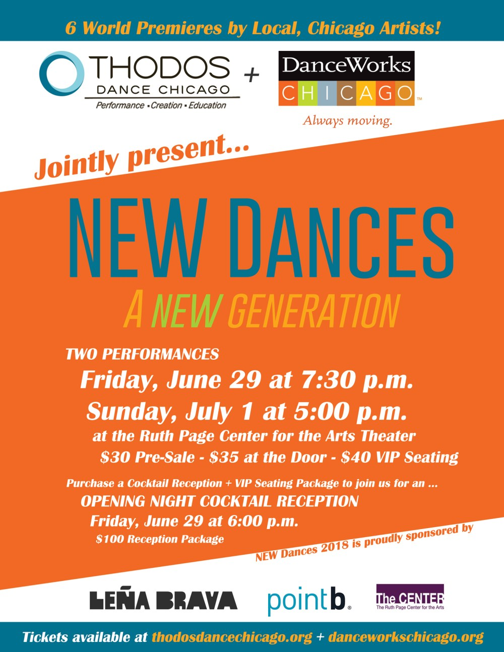 New Dances (Courtesy of DanceWorks Chicago and Thodos Dance Chicago)