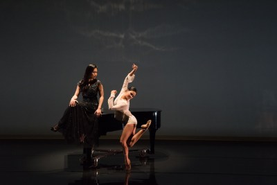 Joyce Yang and Aspen Santa Fe Ballet's Seia Rassenti (photo by Michele Cardamo)