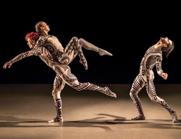 Isaies Santamaria, Manuel Vignoulle, and Stephanie Williams in Manuel Vignoulle's EARTH (Photo by Brigid Marz)