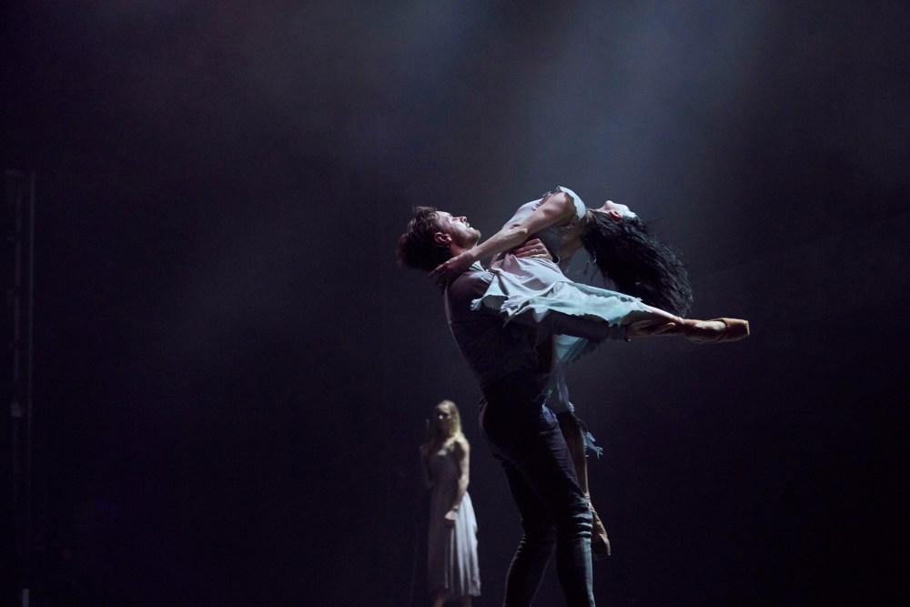 Tamara Rojo and James Streeter in Akram Khan's Giselle (Photo by Laurent Liotardo)