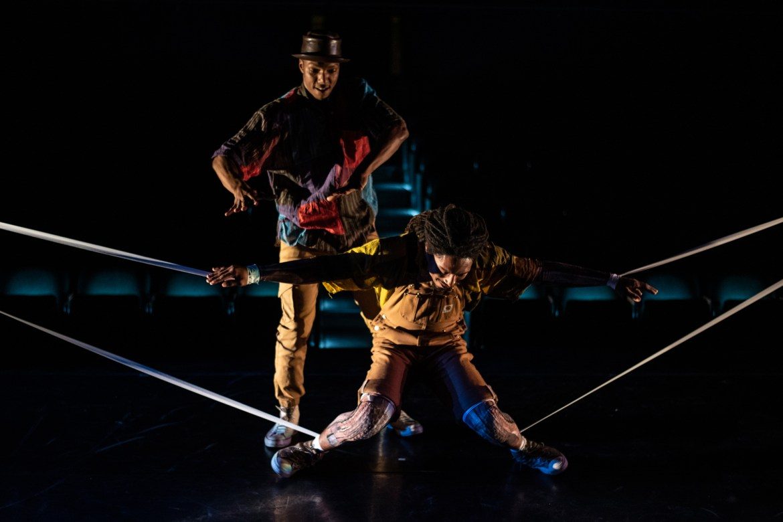 "Monternez Rezell and Elijah Motley in Chicago Dance Crash's ""Lil Pine Nut"" (Photo by Ashley Deran)"