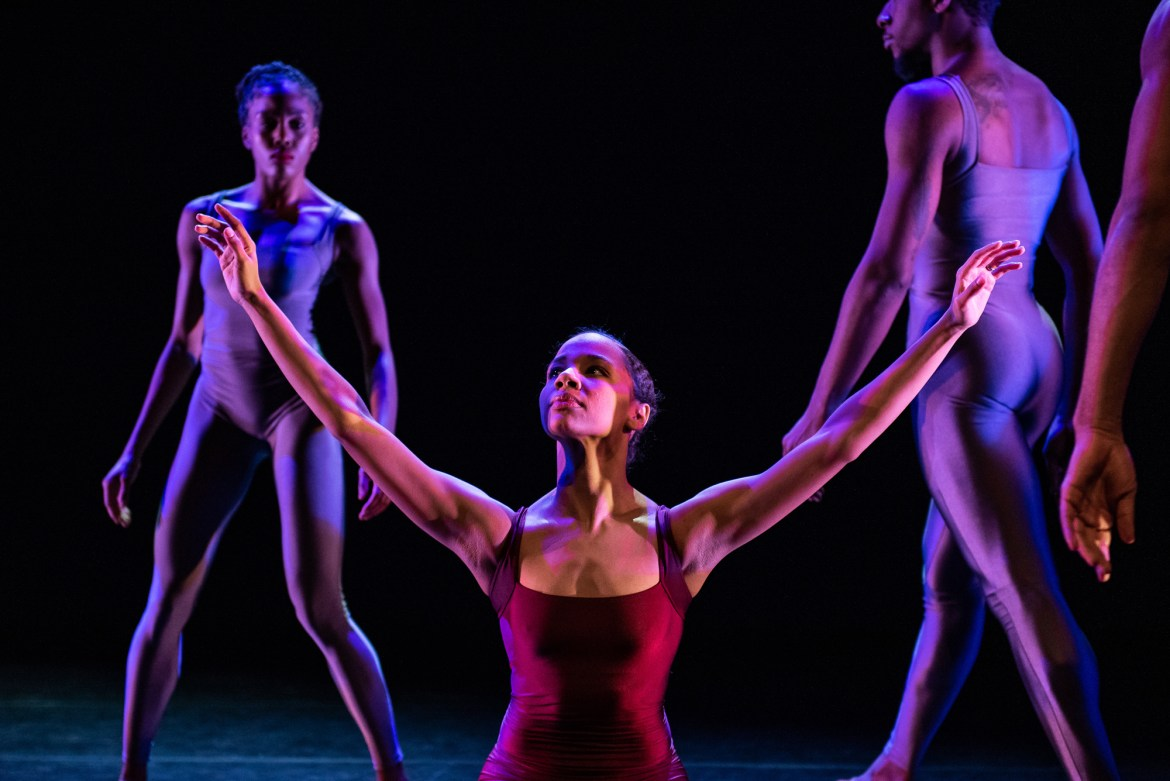 Briana Arthur in Nicole Clarke-Springer's Forces for Deeply Rooted Dance Theater (Photo by Michelle Reid)