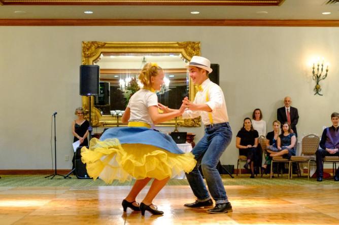 showcase style partner dancing