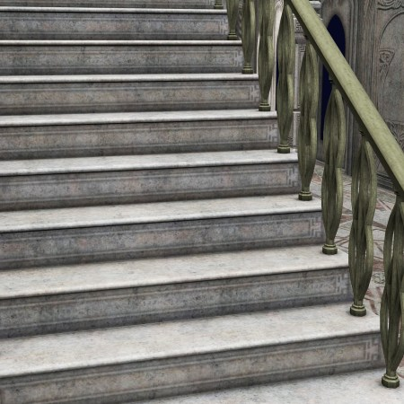 Make one good step up these stairs.