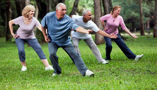 Tai Chi can be done outside.