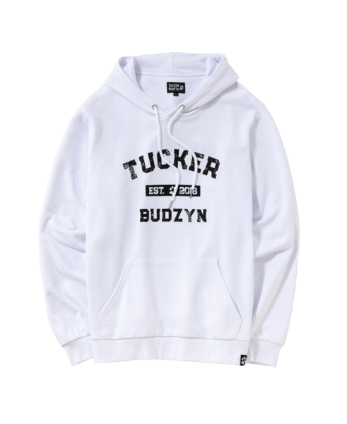 Tucker Budzyn has his own shop with merchandise.