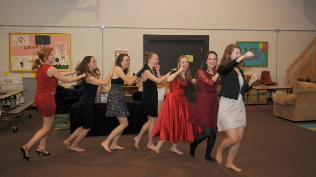 Ready to get back to dancing?  Try a conga line.