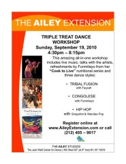Triple Treat Workshop at Alvin Ailey. NYC