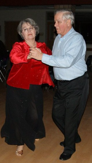 Sue and Al at Cupid Shuffle