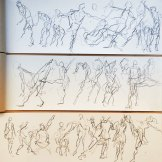 Prud'hon: The Moving Body: Sketches by Aaron Jacob Jones.© Aaron Jacob Jones. (Click image for larger version)