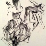 Prud'hon: The Moving Body: Sketches by Jan Irvine.© Jan Irvine. (Click image for larger version)