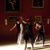 In technical rehearsal: Of Dust and Air performed by 8 dancers.© Kristyna Kashvili. (Click image for larger version)
