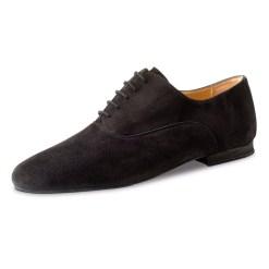 chaussure de danse pour homme werner kern 28044, chaussure de danse de salon, très confortable, très souple, talon 1.5 cm, en daim noir, idéal pour danse de salon