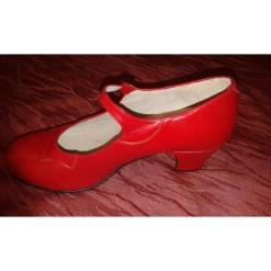BASIC M00 ROJO, Chaussure de flamenco Begona Cervera, danceworld, bruxelles.