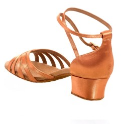 R385-45 SATIN, Chaussure de West Coast swing RUMMOS, danceworld, bruxelles.