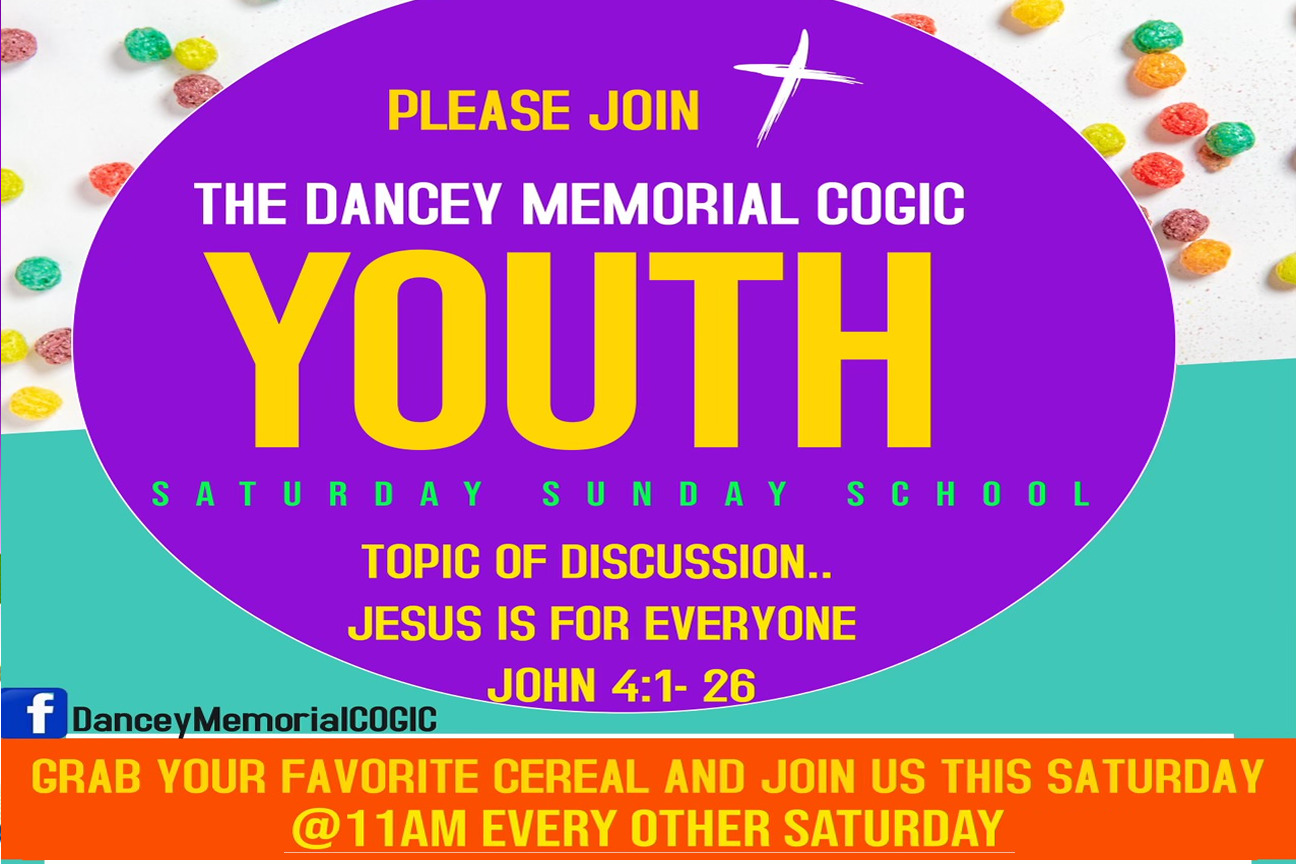 Dancey Memorial COGIC - Oakland CA - Youth Bible Study - New Youth -Banner