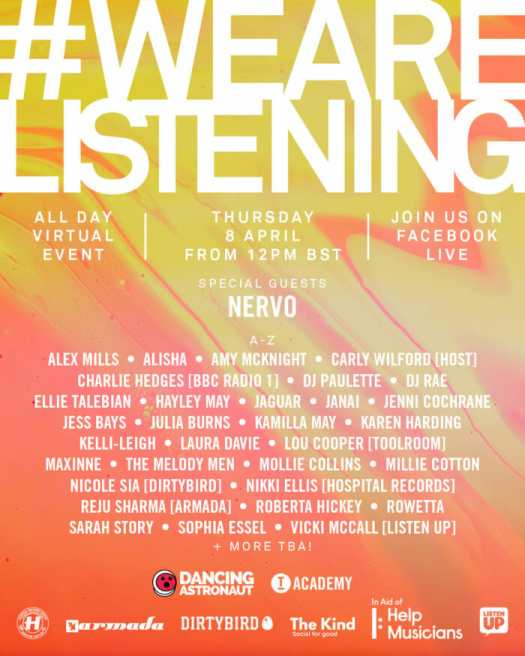 Dancing Astronaut and Toolroom Records announce inaugural female-focused #WeAreListening virtual eventWAL 2