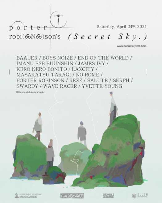 Porter Robinson unveils 2021 Secret Sky lineup: REZZ, Baauer, Boys Noize, and morePorter Robinson Secret Sky 2021 Lineup