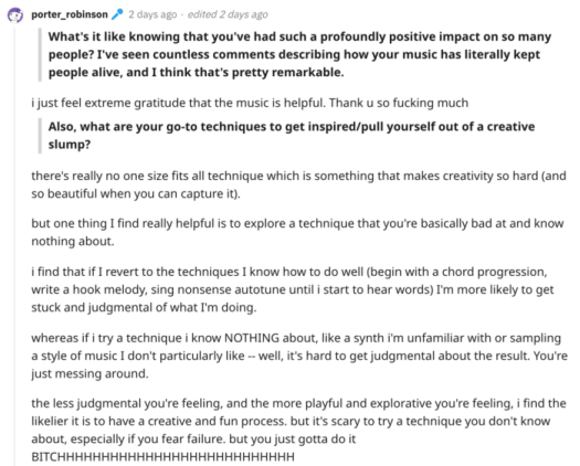 10 insights from Porter Robinson's post-'Nurture' Reddit AMAScreen Shot 2021 05 02 At 10.48.21 AM