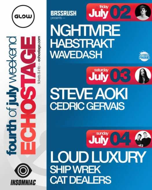 Spend July 4 weekend at Echostage; Club Glow taps NGHTMRE, Steve Aoki, Loud Luxury, and moreEcho 4july2021 V1 3 1