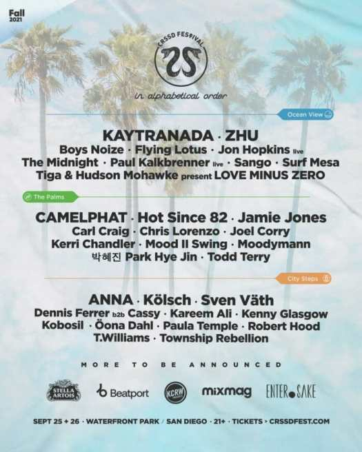 CRSSD Festival collates KAYTRANADA, ZHU, CamelPhat, and more on 2021 lineup994057e5 4c20 3868 55d7 296fdb1f95e0