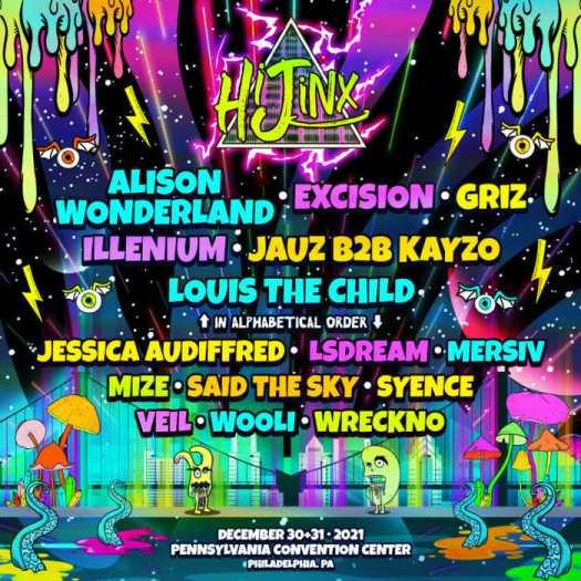 Illenium, Alison Wonderland, Excision and more announced for HiJinx NYE festivalHijyn