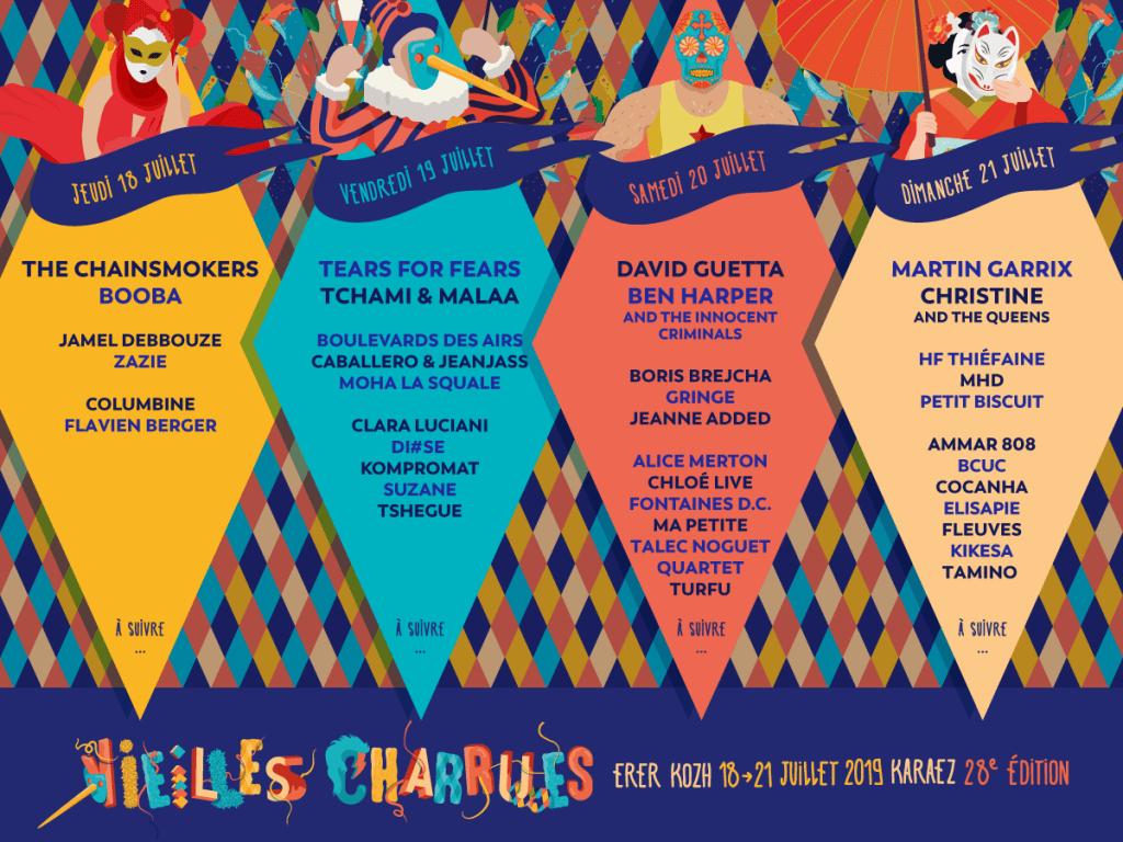 Vieilles Charrues 2019 programmation groupes