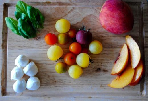Dancing for Donuts | Peach Caprese Pasta Salad.