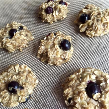 Dancing for Donuts | 3-Ingredient Blueberry Banana Cookies.