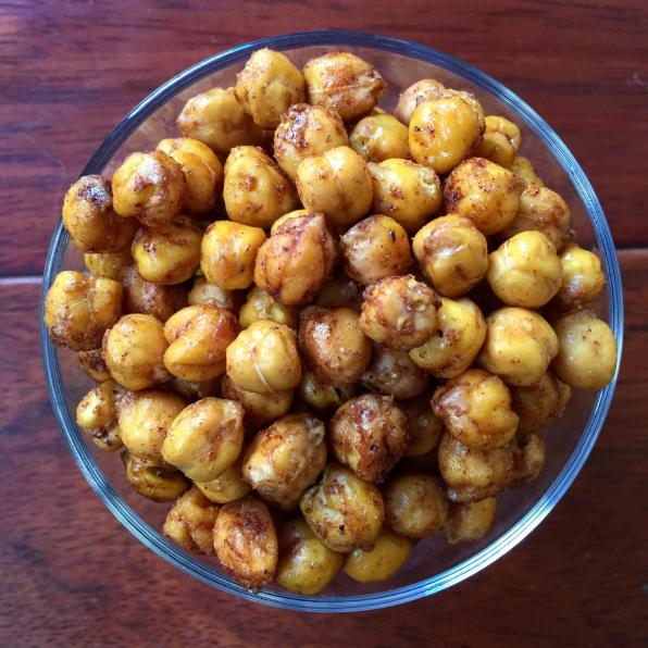 Dancing for Donuts | Maple Brown Sugar Cinnamon Roasted Chickpeas