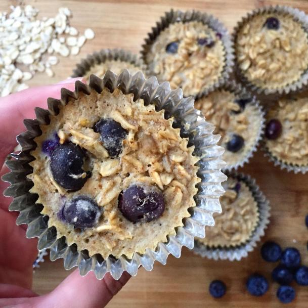 Dancing for Donuts   Blueberry Banana Baked Oatmeal Cups.