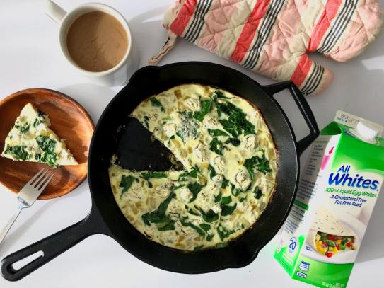 Dancing for Donuts | Spinach & Goat Cheese Egg White Frittata with AllWhites®