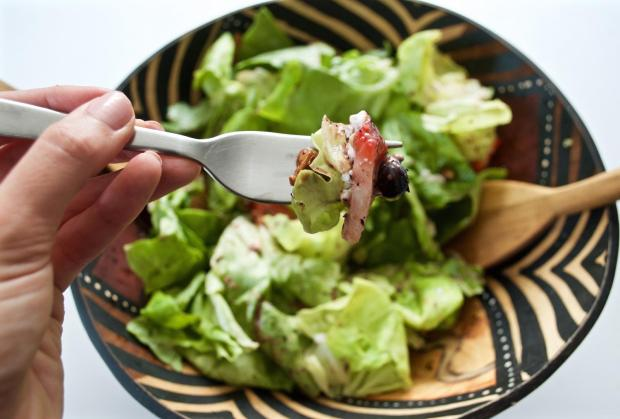 Dancing for Donuts | Summer Butter Lettuce Salad With Pete's Living Greens