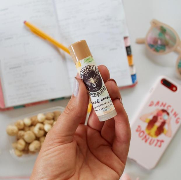 Dancing for Donuts | What's in My Purse: Dandy Bee Company Organic Lip Balm