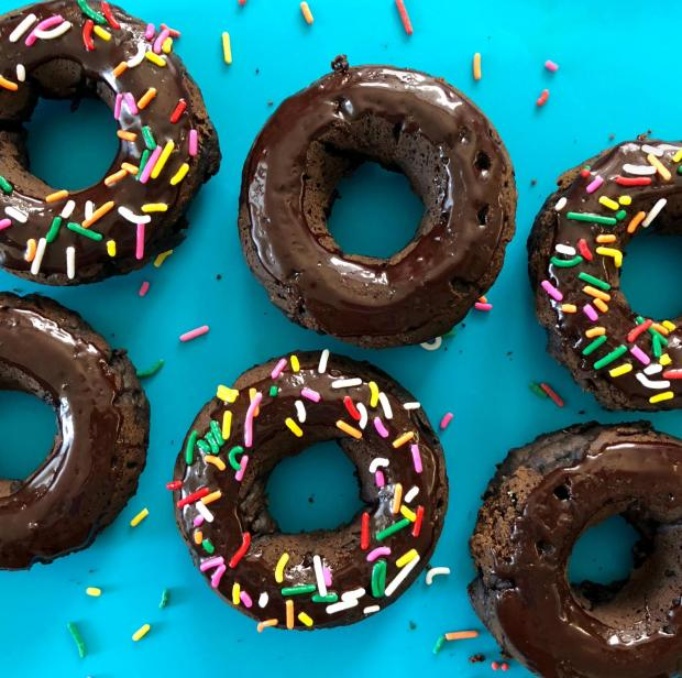 Dancing for Donuts | Cocoa Nut Butter Donuts With Chocolate Passionfruit Glaze