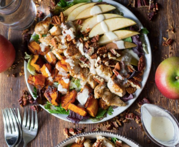 Butternut Apple Chicken Salad