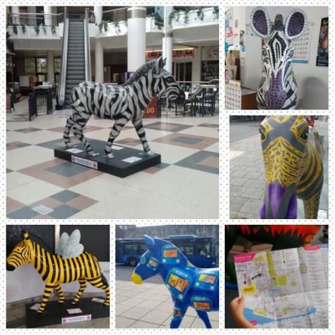 Zebra Art installation Southampton