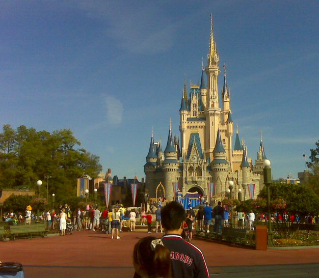 Cinderella Castle - Basht says they use an optical illusion to make the castle look taller