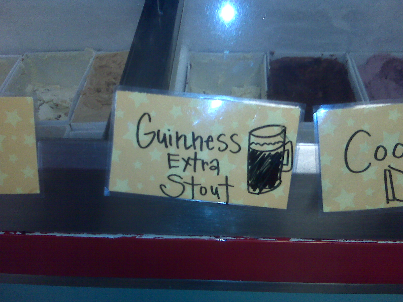 Kristen turned us onto the Guinness Stout ice cream. Actually was pretty good!
