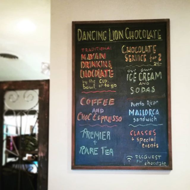 Updating the chalkboard for ICE CREAM time. Try the Madagascar Very Dark & Lemon.#chocolatier #icecream #manchesternh @intownmanch @thehippo_nh