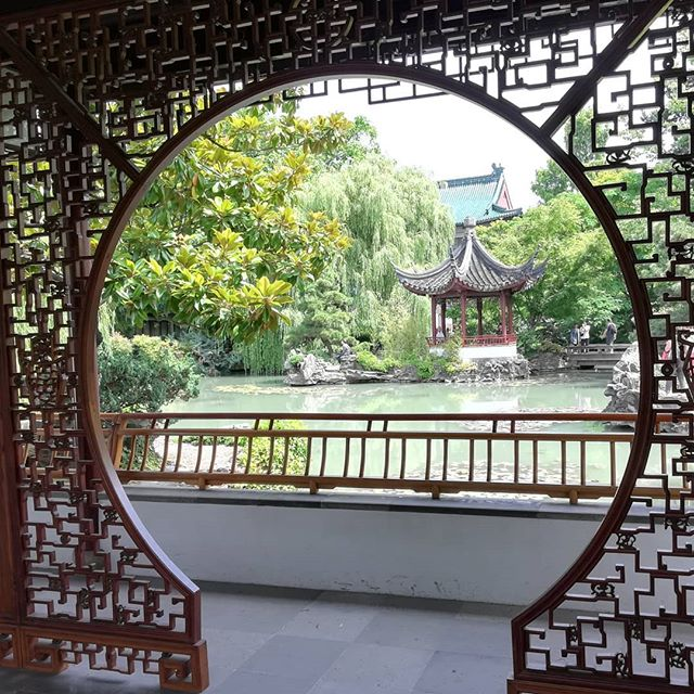 Dr. Sun Yat-Sen classical Chinese garden, Vancouver. Chocolate in my backpack, looking forward to tea.