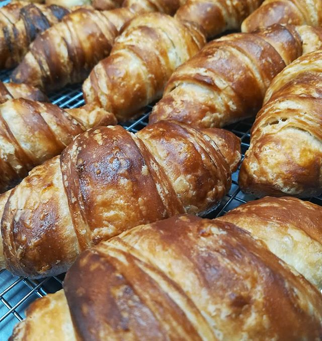 Seems we have some CROISSANTS for sale today, oh my. First come, first served.#chocolatier #croissants #manchesternh #today