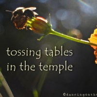 tossing tables in the temple