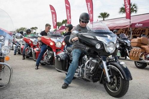 One of the highlights of large biker events is the opportunity to test ride all kinds of bikes.