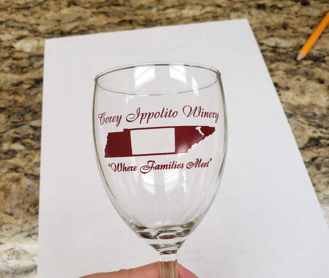 Corey Ippolito Winery Tasting Glass