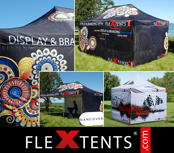 Digital full print on FlexTents® - the leading pop up gazebos on the market