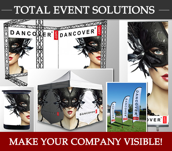 Dancover, Total event solutions. Make your company visible!