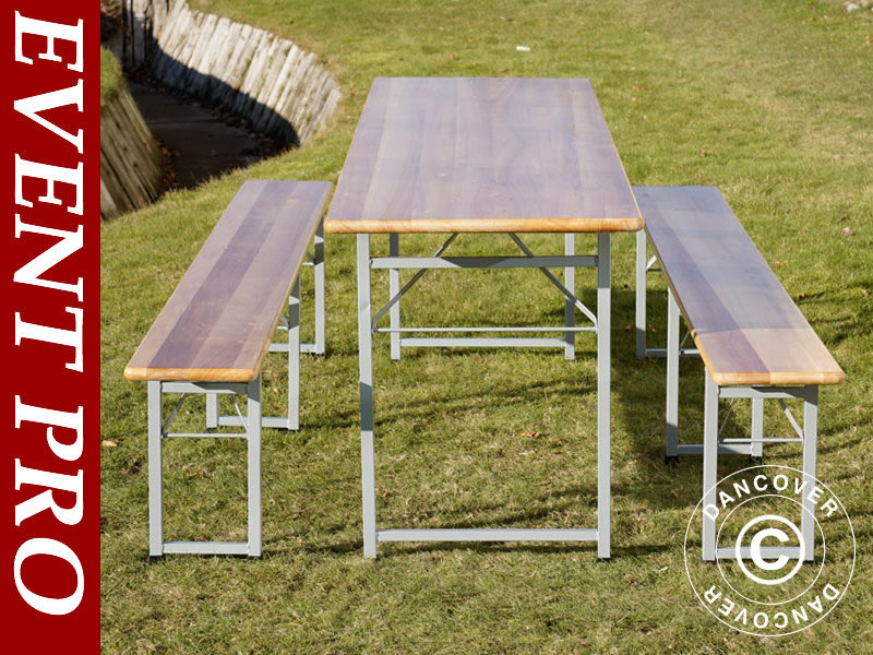 Tables and benches for events