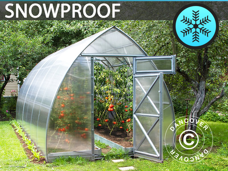 snow proof greenhouse from Dancover