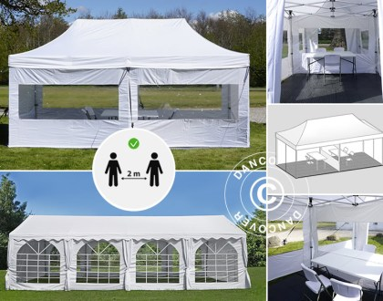 Visitor tents for social and safe distance